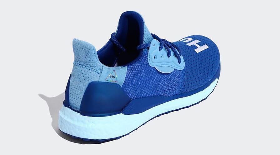 Pharrell x Adidas Solar Hu Glide 'Blue/Power Blue/College Royal' EF2377 (Heel)