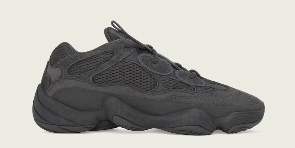 Adidas Yeezy Boost 500 'Utility Black' F36640 (Lateral)