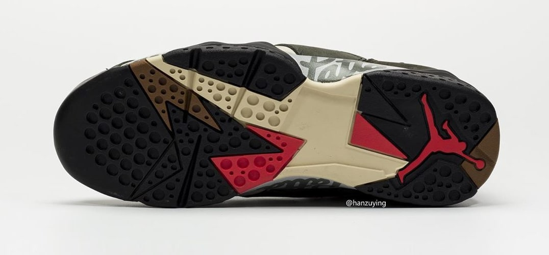 Patta x Air Jordan 7 AT3375-100 (Bottom)