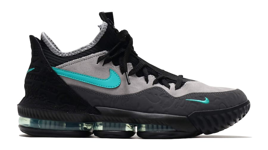 Atmos x Nike LeBron 16 Low 'Clear Jade' CD9471-003 (Lateral)