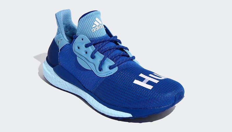 Pharrell x Adidas Solar Hu Glide 'Blue/Power Blue/College Royal' EF2377 (Front)