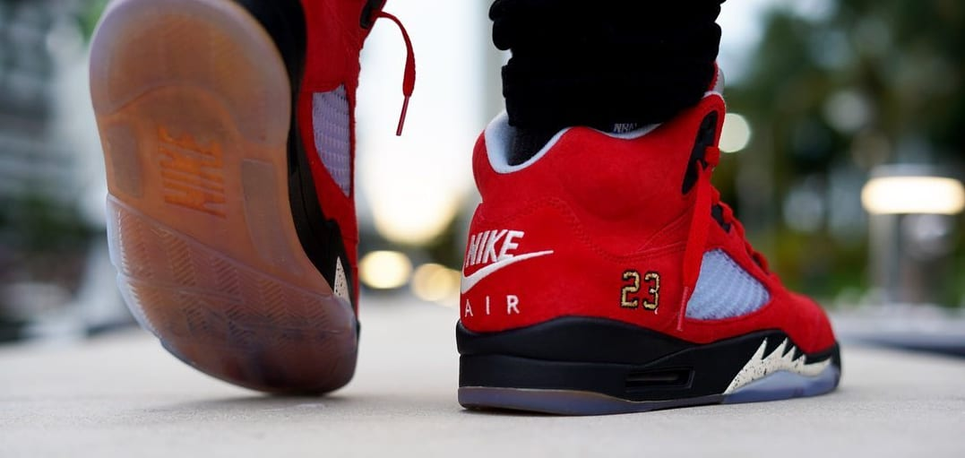 Trophy Room x Air Jordan 5 'University Red' 6