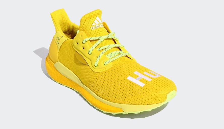Pharrell x Adidas Solar Hu Glide 'Bright Yellow/Running White/Solar Yellow' EF2379 (Front)