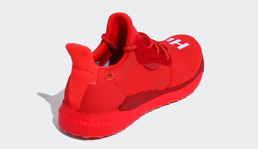 Pharrell x Adidas Solar Hu Glide 'Red/Power Red/Running White' EF2381 (Heel)