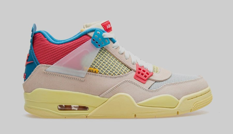 Union x Air Jordan 4 Retro 'Guava Ice' DC9533-800 Lateral
