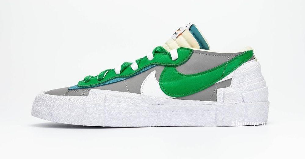 Sacai x Nike Blazer Low 'Classic Green' DD1877-001 Lateral