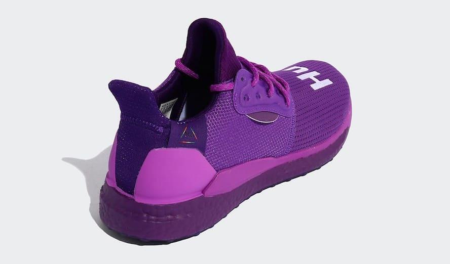 Pharrell x Adidas Solar Hu Glide 'Active Purple/Tribe Purple' EF7770 (Heel)