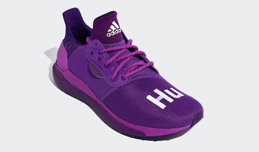 Pharrell x Adidas Solar Hu Glide 'Active Purple/Tribe Purple' EF7770 (Front)