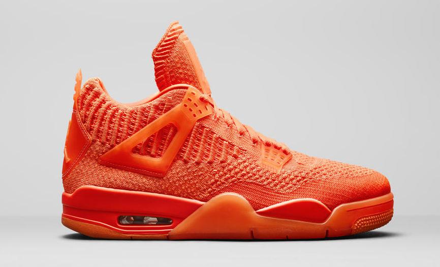 836e50acf060 Image via Nike News Air Jordan 4 Retro Flyknit Orange AQ3559-800 Lateral