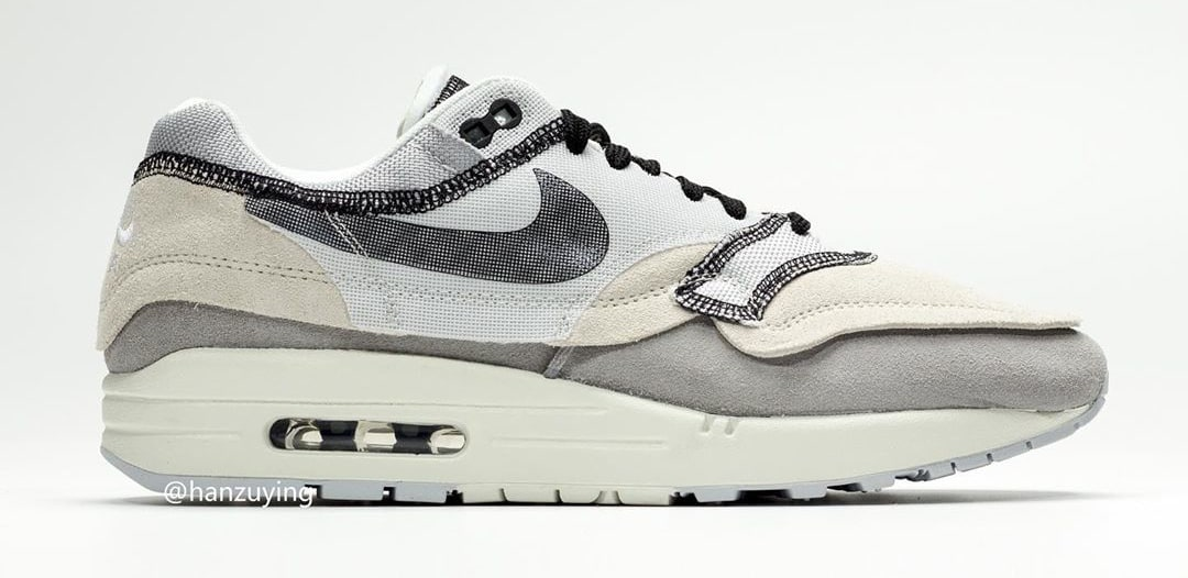 detailed look 7b6d7 b1e8d Image via hanzuying · Nike Air Max 1  Inside Out Light Grey  858876-013  (Lateral