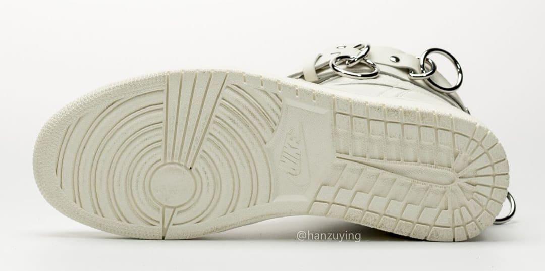 Comme Des Garcons x Air Jordan 1 'White' CN5738-100 Sole