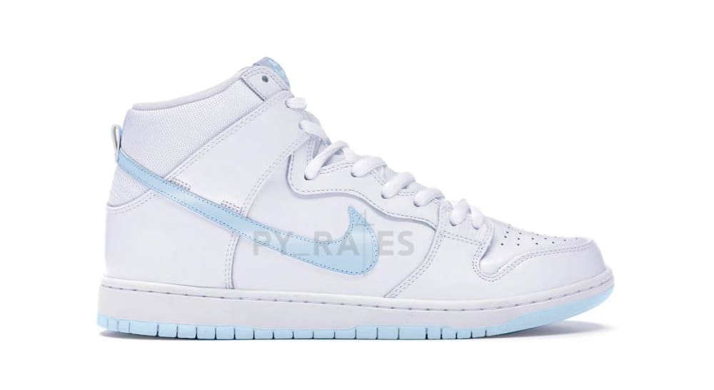Slam Jam x Nike Dunk High White/Clear/Pure Platinum Mock-up