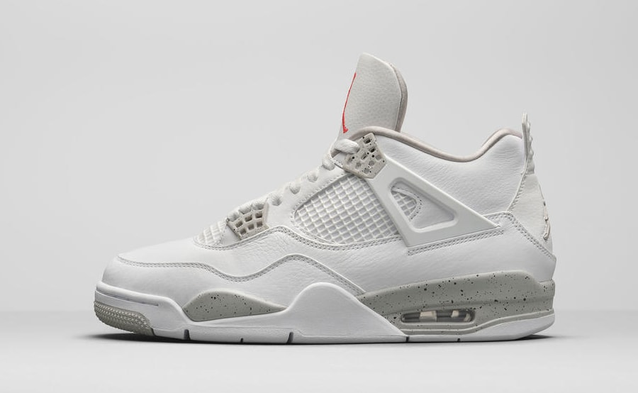 Air Jordan 4 Retro 'White Oreo' Lateral