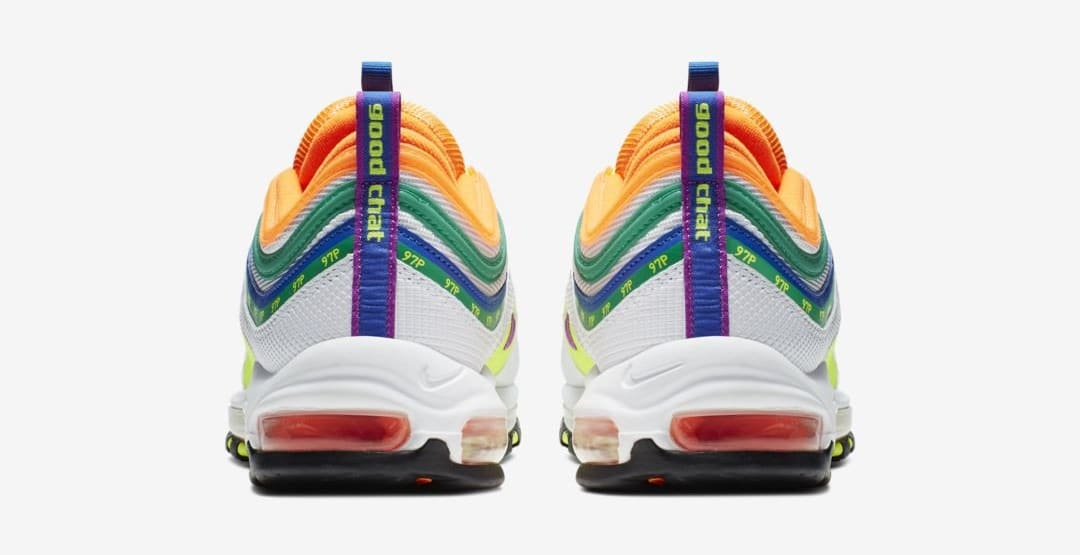 finest selection 1074b 2dc39 Image via  J23app · Nike Air Max 97  London Summer of Love  (Heel)