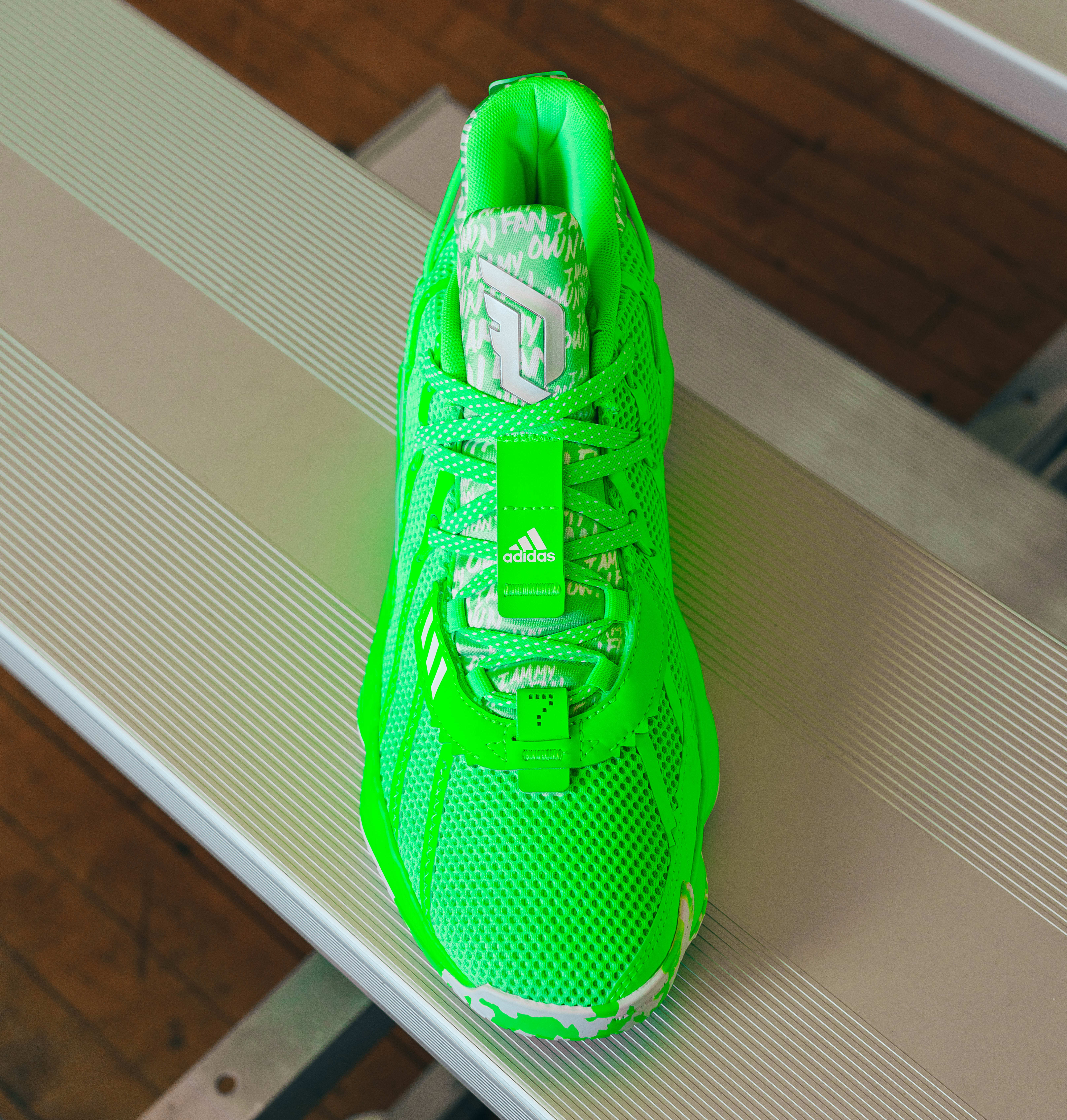 Adidas Dame 7 Lime (Front)