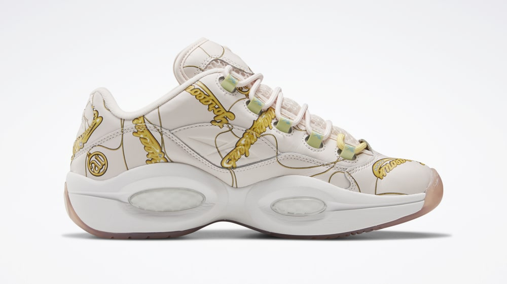 BBC x Reebok Question Low 'Name Chains' FZ4341 Medial