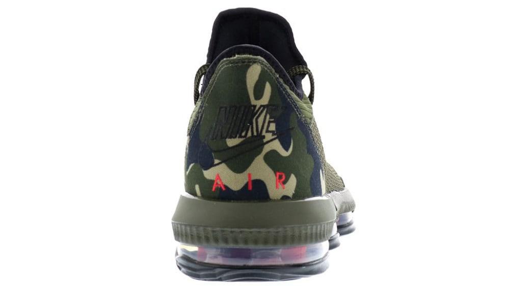 Nike LeBron 16 Low Camo Release Date CI2668-300 Heel