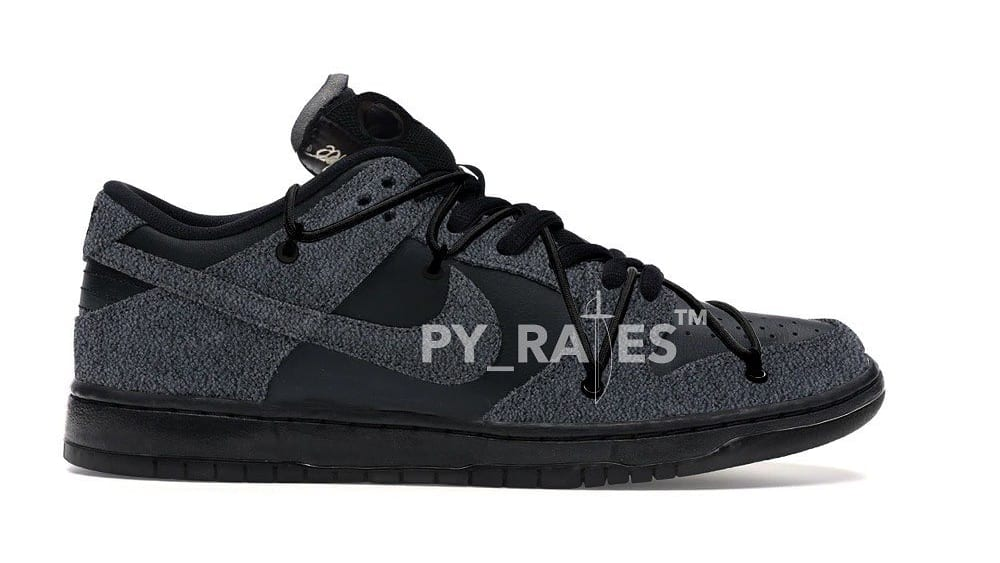 Off-White x Nike Dunk Low Black/Black Mock-up