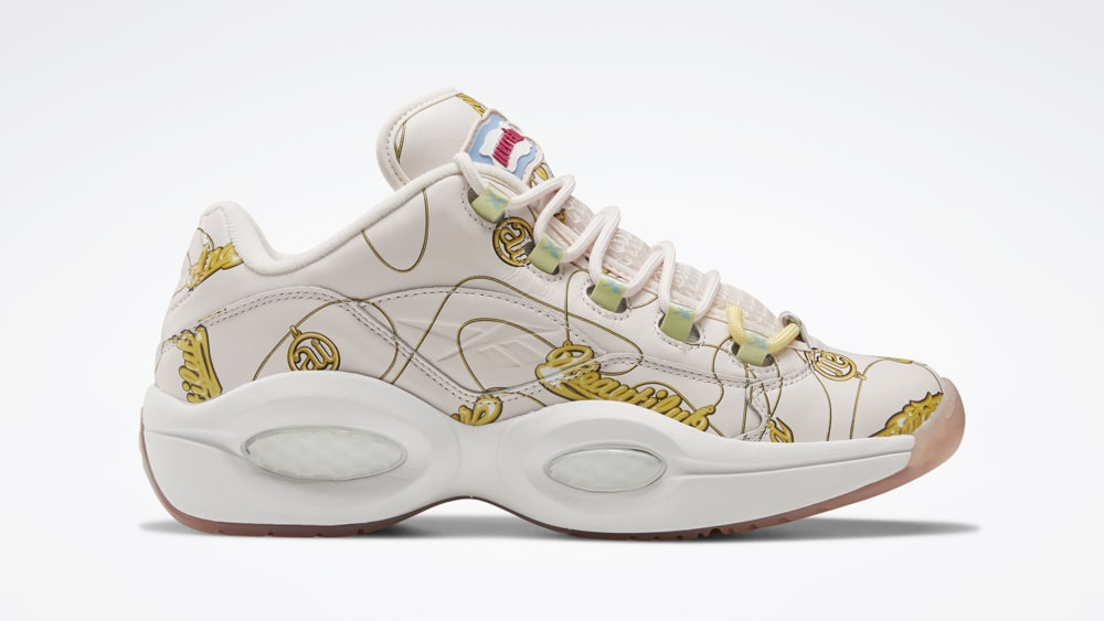BBC x Reebok Question Low 'Name Chains' FZ4341 Lateral
