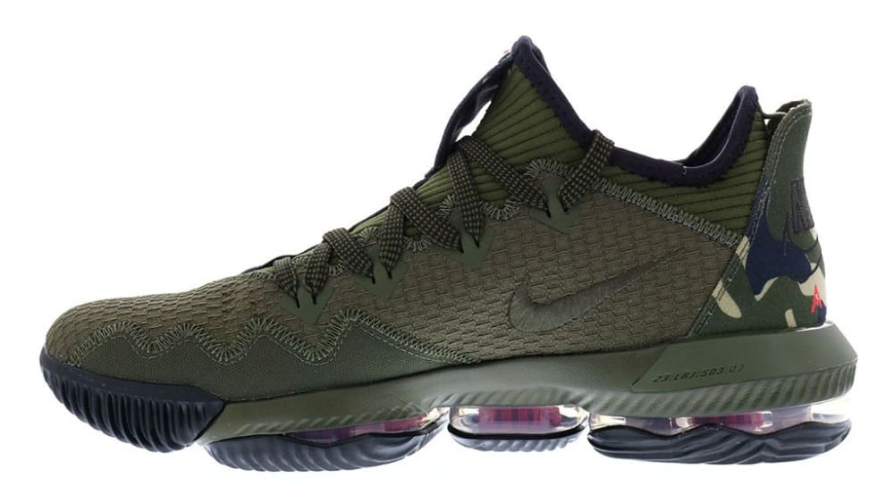 Nike LeBron 16 Low Camo Release Date CI2668-300 Medial