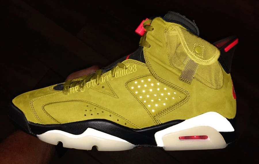 Another Look at Travis Scott's Yellow Air Jordan 6 Collab