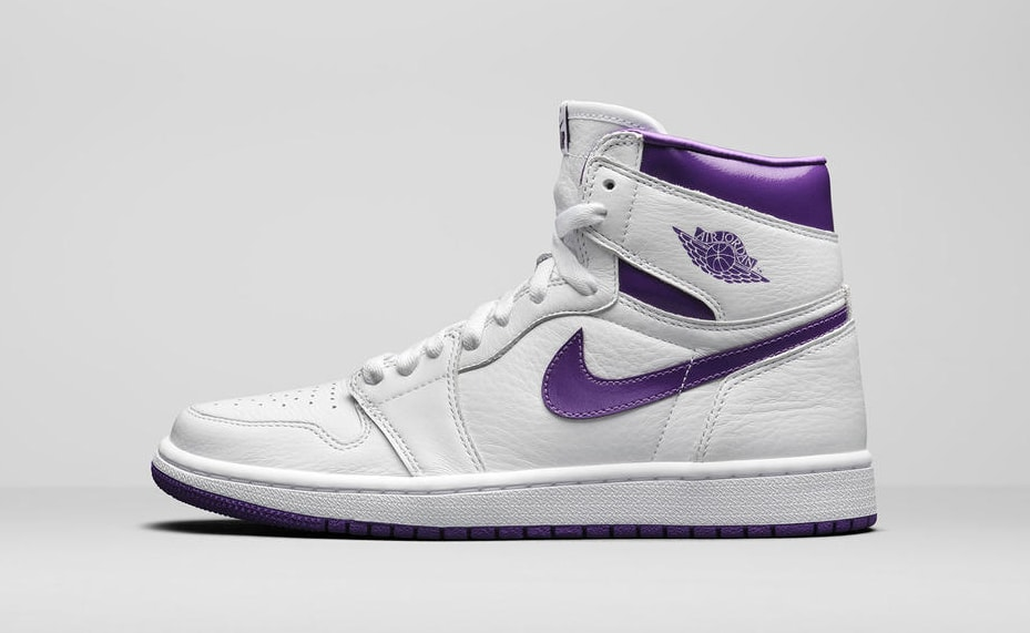 Air Jordan 1 Retro High OG Women's 'Purple Metallic' Lateral