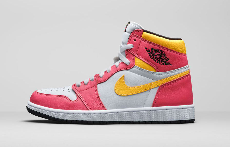 Air Jordan 1 Retro High OG 'Light Fusion Red' Lateral