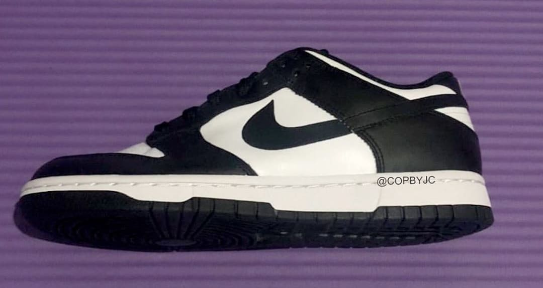 Nike Dunk Low White/Black/White First Look Side