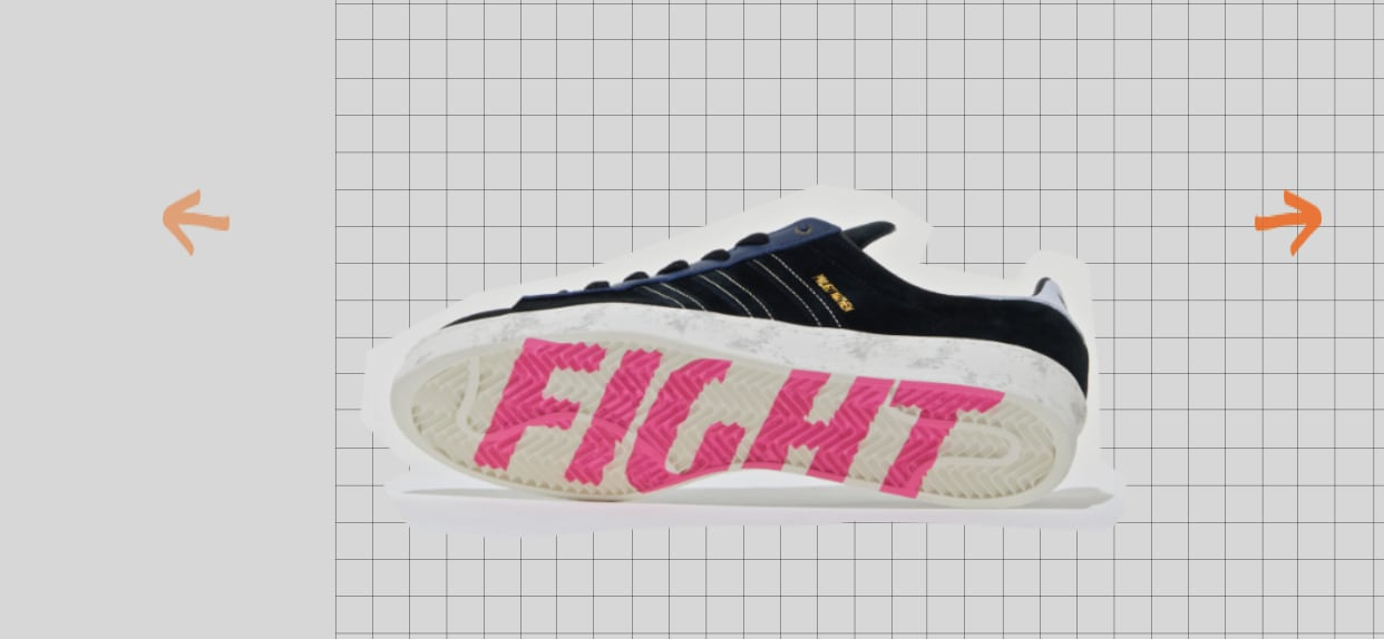 Size? x Adidas Campus 80s 'Fight Club' Outsole