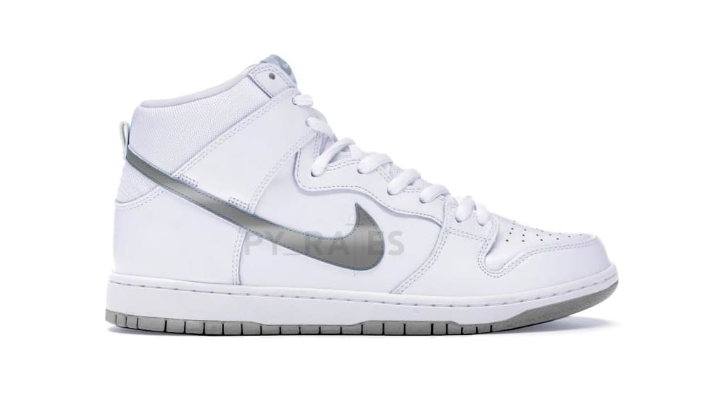 Slam Jam x Nike Dunk High White/Clear/Black Mock-up