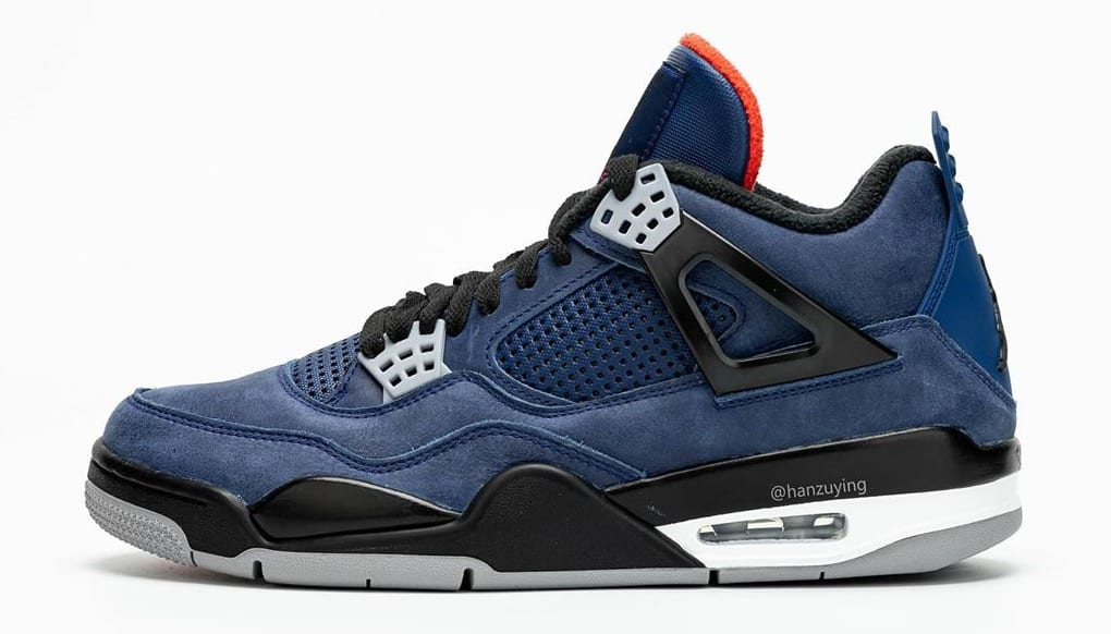 detailed look b20bd abcdd Air Jordan 4 WNTR 'Loyal Blue/White/Habanero Red/Black ...