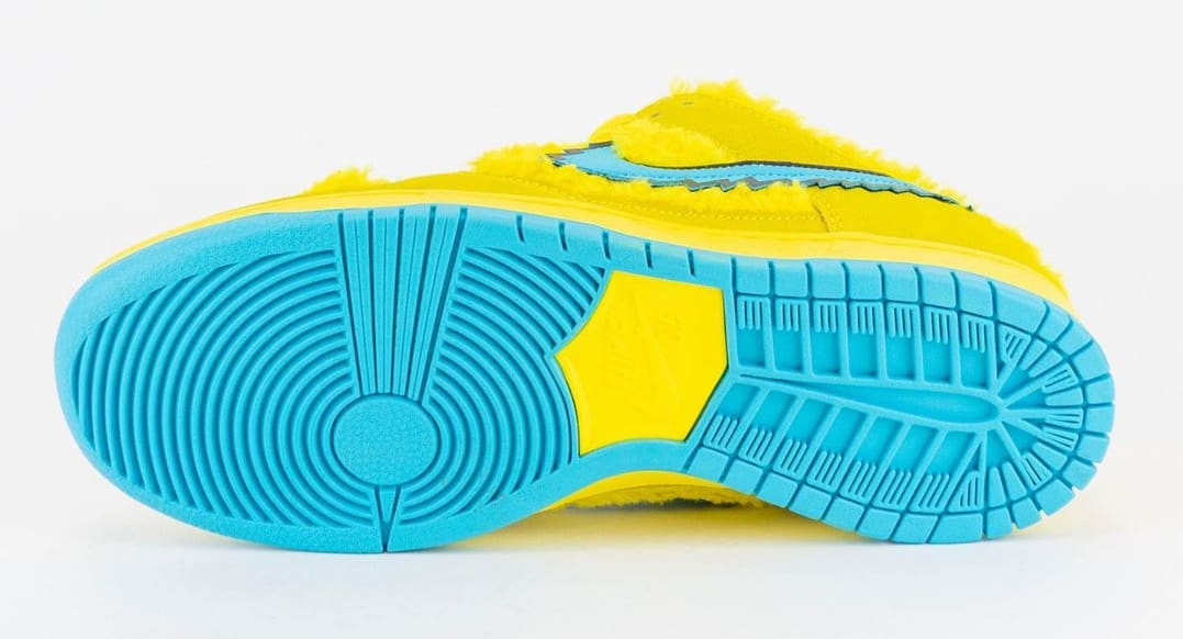 Nike SB Dunk Low Pro QS 'Grateful Dead' Opti Yellow/Blue Fury CJ5378-700 Outsole