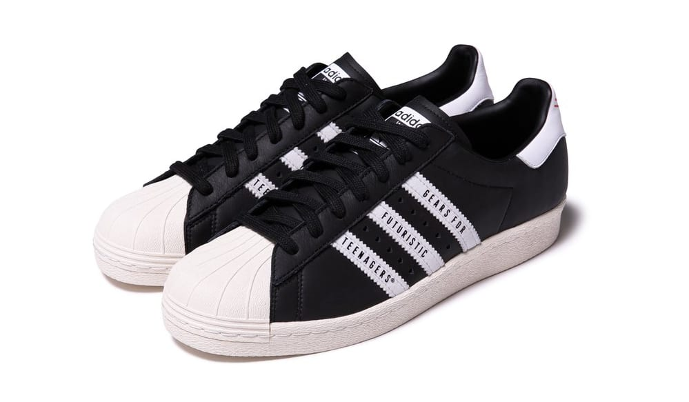 Human Made x Adidas Superstar 80s Black Front