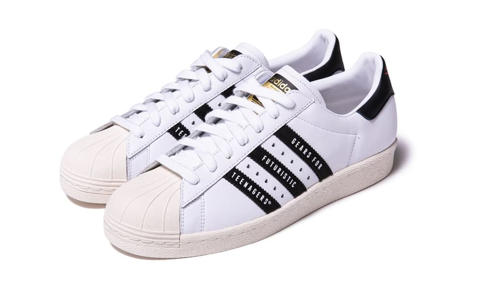 Human Made x Adidas Superstar 80s White/Black Front