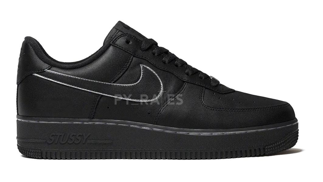 Stussy x Nike Air Force 1 Low 'Black' Mock-up