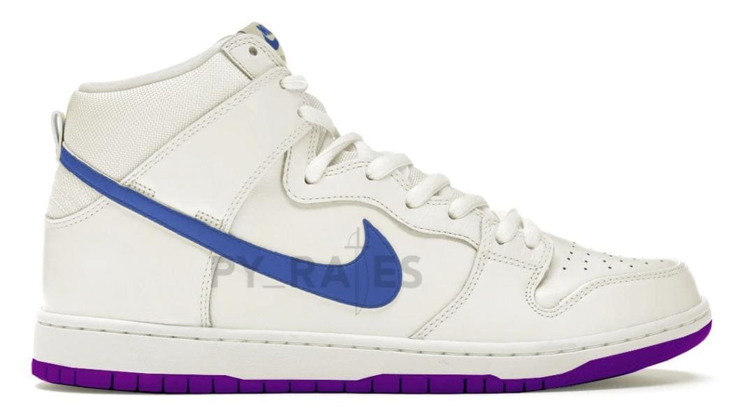 Notre x Nike Dunk High Collab Pearl White/Blue Void/Grand Purple Mock-Up