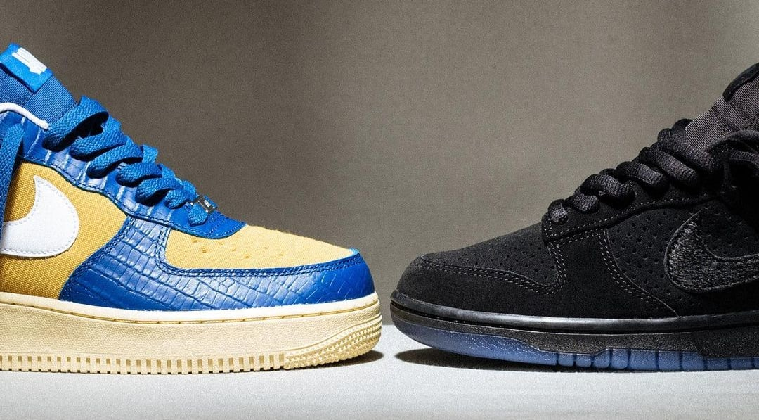 Undefeated x Nike Dunk Low and Air Force 1 Low '5 On It' Drop 2