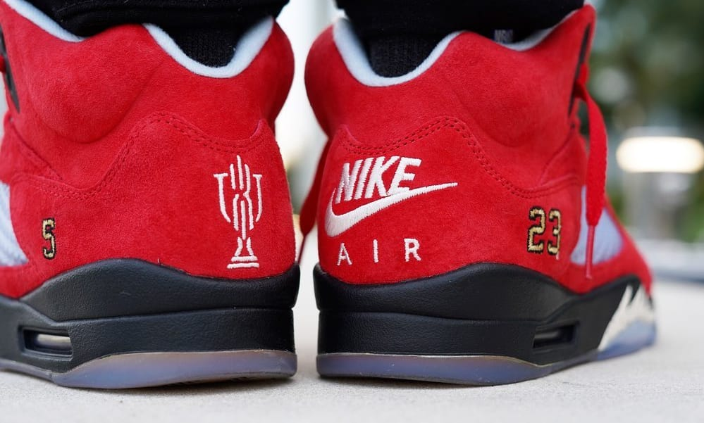 Trophy Room x Air Jordan 5 'University Red' 3