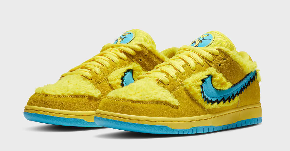 Grateful Dead x Nike SB Dunk Low 'Yellow' (Pair)