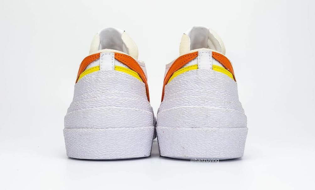 Sacai x Nike Blazer Low 'Magma Orange' DD1877-100 Heel