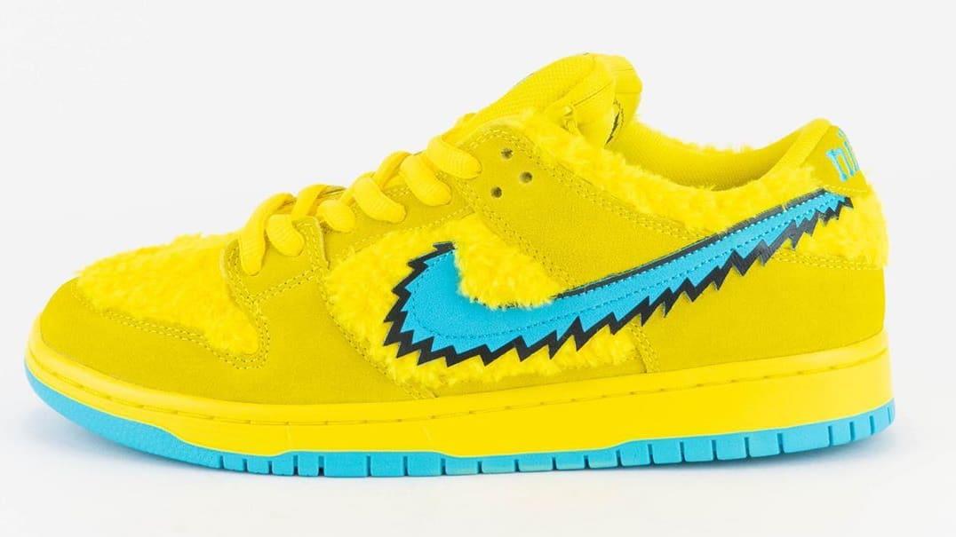 Nike SB Dunk Low Pro QS 'Grateful Dead' Opti Yellow/Blue Fury CJ5378-700 Lateral