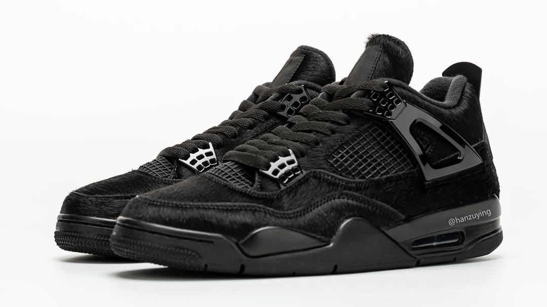 Air Jordan 4 Black Cat Pony Hair Release Date CK2925-001 Pair