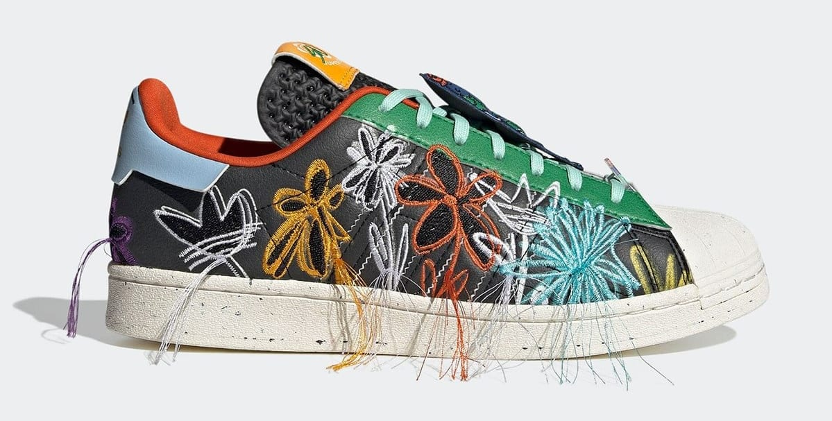 Sean Wotherspoon x Adidas Superstar 'Super Earth' Black GX3823 Lateral