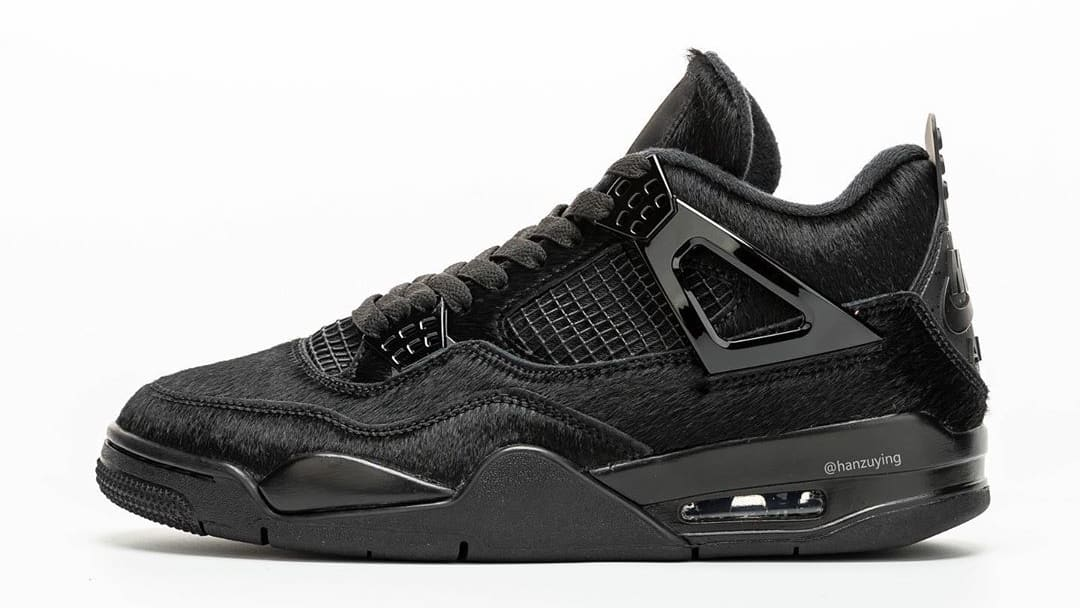 Air Jordan 4 Black Cat Pony Hair Release Date CK2925-001 Profile