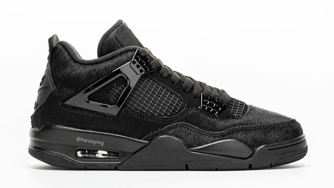 Air Jordan 4 Black Cat Pony Hair Release Date CK2925-001 Profile Right