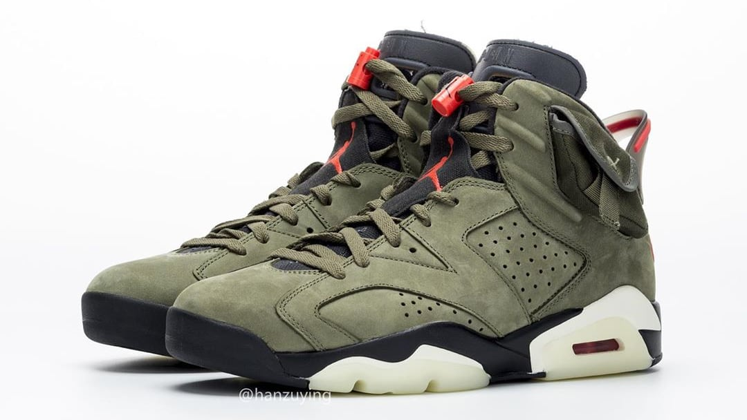 buy online 197d3 030b4 Travis Scott Air Jordan 6 VI Medium Olive Release Date ...