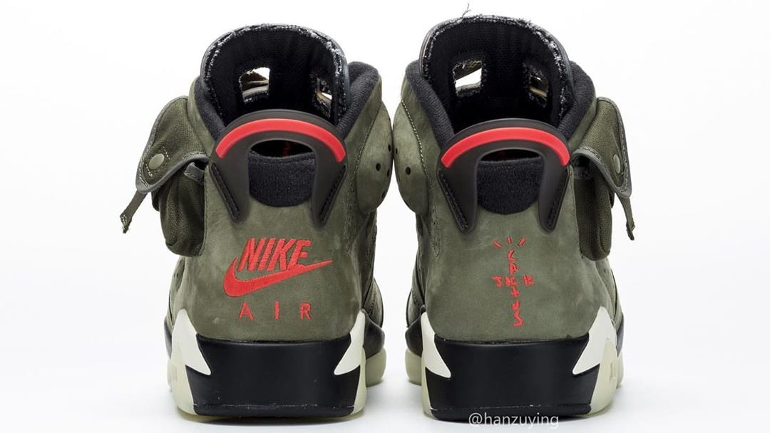 Travis Scott Air Jordan 6 Release date CN1084-200 Heel