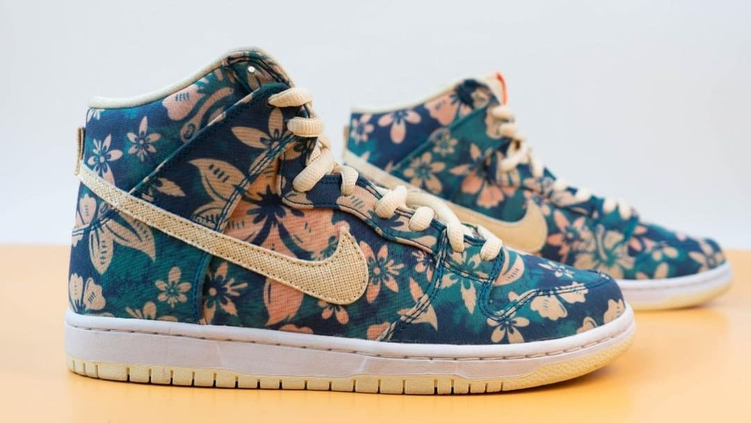 Nike SB Dunk High 'Hawaii' Sail/Blue/Green Aqua CZ2232-300 (Pair)