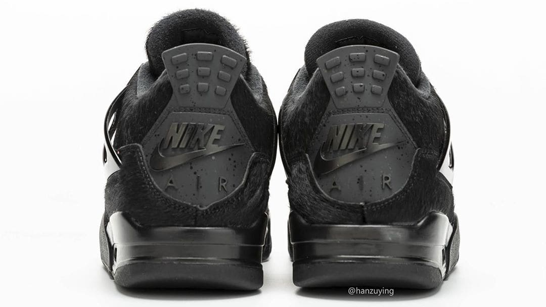 Air Jordan 4 Black Cat Pony Hair Release Date CK2925-001 Heel
