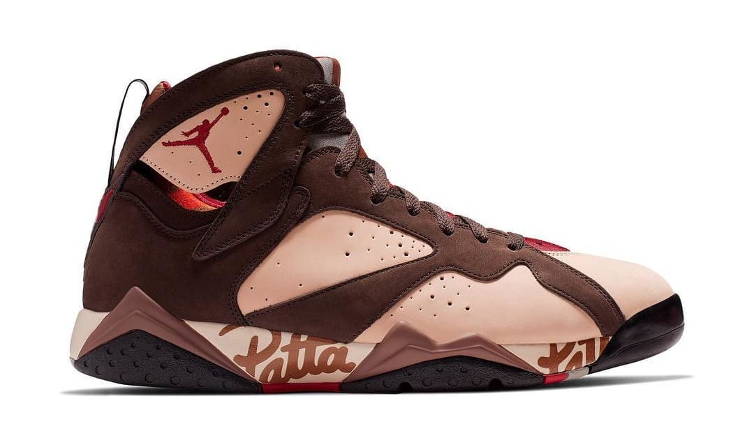 hot sales 22050 778cc Patta x Air Jordan 7 Retro SP Lateral